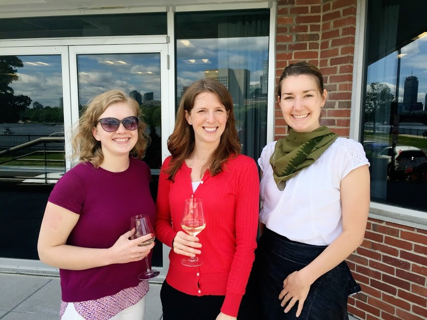 HSRI Administrative Assistant Hailey DuBreuil, Research Associate Rachael Gerber, and Research Analyst Melissa Burnett